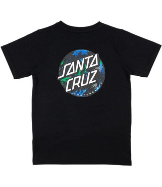 Santa Cruz Youth Dot Splatter T-Shirt Black