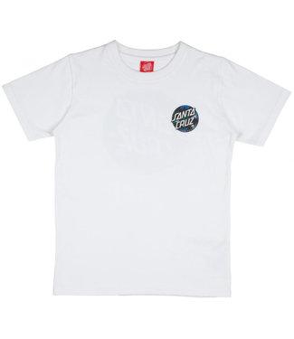 Santa Cruz Youth Dot Splatter T-Shirt White