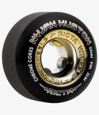 Ricta Nyjah Huston Chrome Core 52mm 99a Slim Black Skateboard Wheels