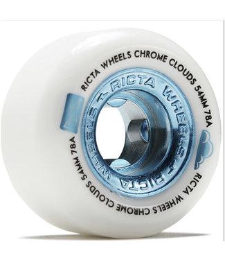 Ricta Chrome Clouds All Terrain Wheels 54mm/78A White Silver