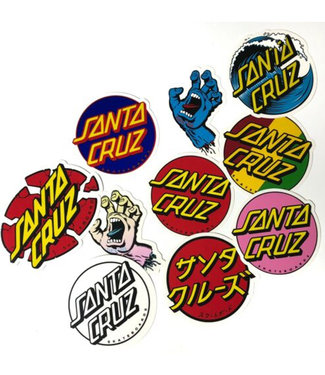 Santa Cruz Pack of 10 Stickers