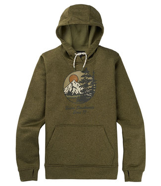 Burton W Oak Pullover Martini Olive Heather 2021