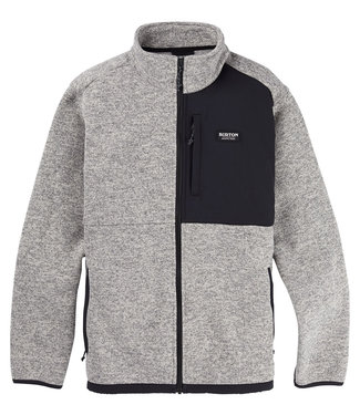 Burton M Hayrdr Sw Fleece Fz Gray Heather 2021