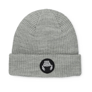 Crab Grab Circle Patch Beanie Heather Grey