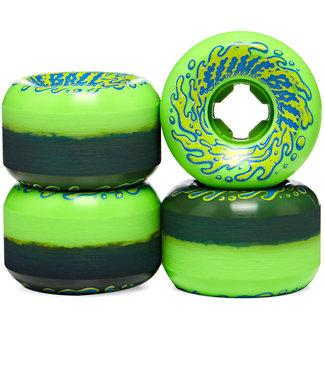 Santa Cruz Double Take Vomit 97A 53 mm Green/Black Skateboard Wheels