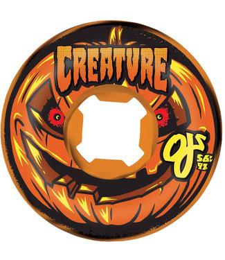 OJ Wheels Pumpkin Head Bloodsuckers Swirl 97A 56 mm Orange/Black Skateboard Wheels