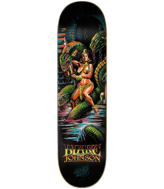 "Santa Cruz Johnson Warrior Powerply 8.375"" Skateboard Deck Black"