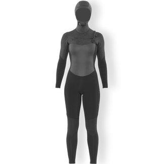 SisstrEvolution 7 Seas 5/4 Chest Zip Full Wetsuit Black Heather