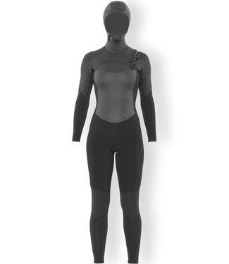 SisstrEvolution 7 Seas 5/4 Hooded Chest Zip Full Wetsuit Black Heather