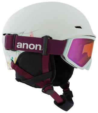 Anon Kids Define Flowers Green Helmet + Goggle