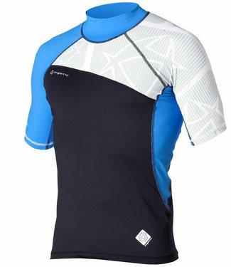 Mystic Crossfire Rash Vest Shortsleeve Blue