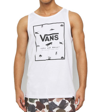 Vans Print Box Tank Top White/Dar