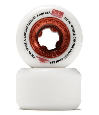 Ricta Chrome Clouds All Terrain Wheels 54mm/86A Red White