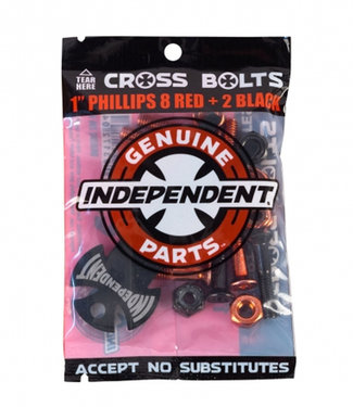 """Independent Genuine Parts 1"""" Phillips Hardware 10pack with tool Red/Black"""