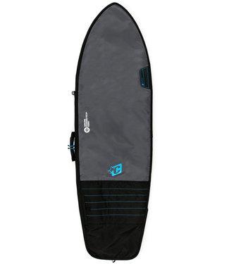 Creatures Of Leisure 6'3 Fish Day Use Boardbag Charcoal Cyan