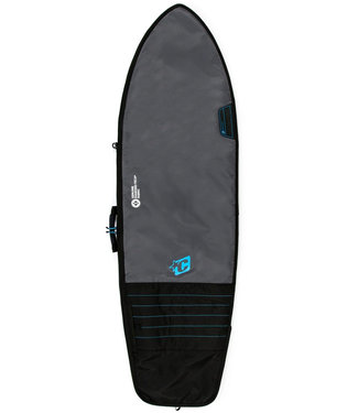 Creatures Of Leisure 7'3 Fish Day Use Boardbag Charcoal Cyan