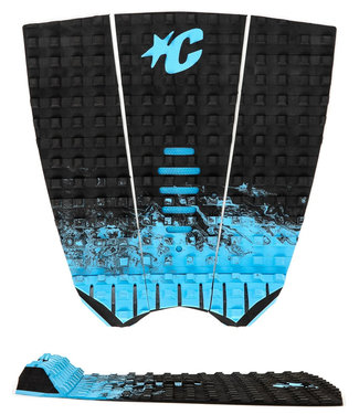 Creatures Of Leisure Mick Fanning Black Fade Cyan Surf Traction Pad