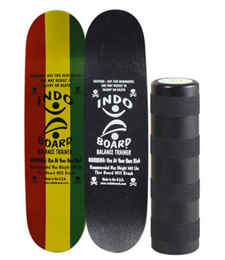 Indo Board Mini Kicktail Rasta Balance Board + Indo Roller