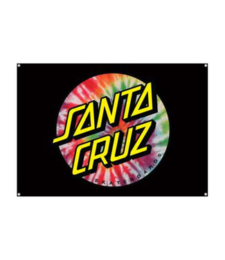 "Santa Cruz Tie Dye Dot Flag 32"" x 46"""