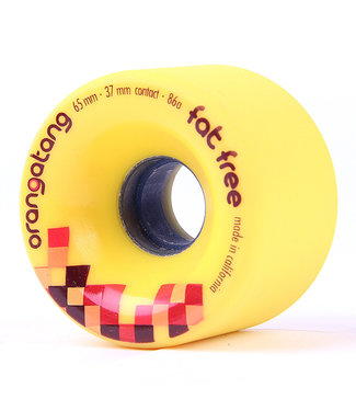 Orangatang Fat Free 65mm Wheels 86A Yellow