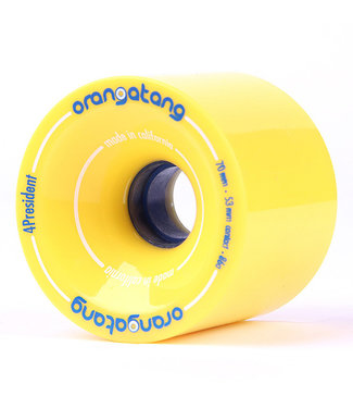 Orangatang 4 President 70mm 86A Yellow Wheels
