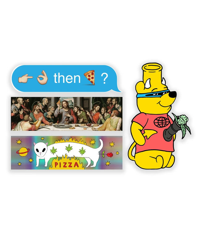 Pizza Skateboards Sticker Pack 1 Assorted Stickers one size / multicolored