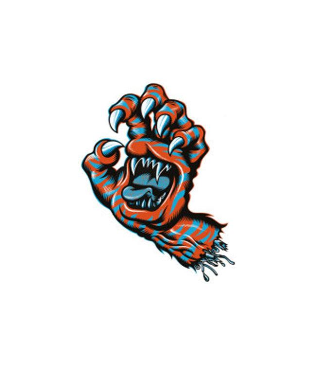 "Santa Cruz Salba Tiger Hand Sticker 4.5"""