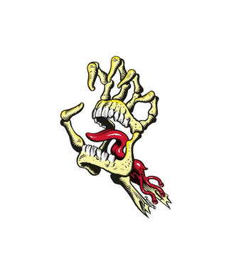 Santa Cruz Vintage Bone Hand Sticker 4.5""