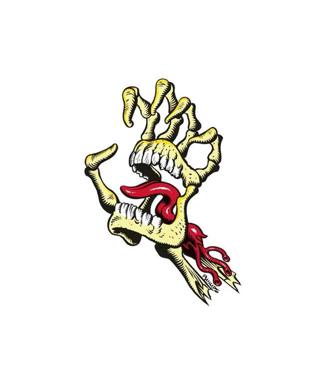 "Santa Cruz Vintage Bone Hand Sticker 4.5"""