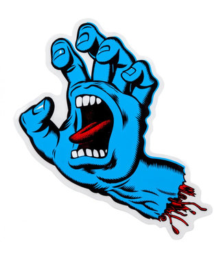 Santa Cruz Screaming Hand Blue Sticker 6""