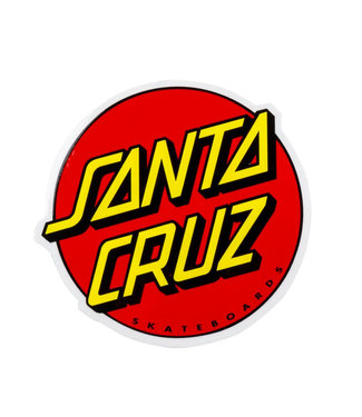 Santa Cruz Classic Dot Sticker Red 6""