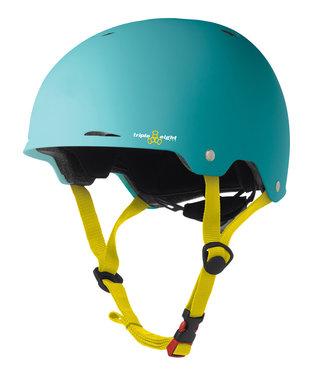 Triple Eight Gotham Teal Rubber Skateboard Helmet