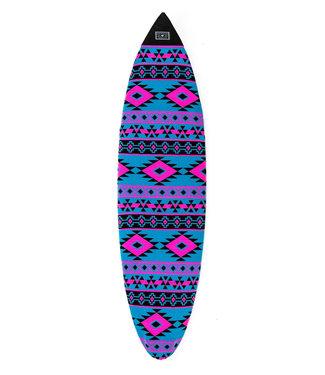 """Creatures Of Leisure 5'8"""" Shortboard Navajo Sox Cyan Magenta"""