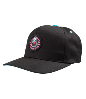 Santa Cruz Speed Wheels Shark Snapback Cyan/Black O/S