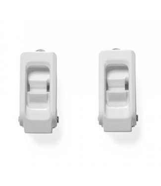 NOW Alu Toe Buckle Pair White
