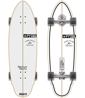 """YOW X Pyzel Shadow 33.5"""" Signature Series Surfskate Complete"""
