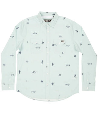 Salty Crew Topwater Woven Light Blue