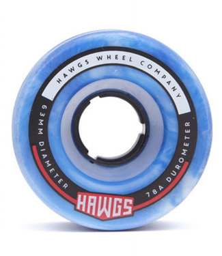 Hawgs Fatty Cruiser Wheels 63mm/78A Blue/White