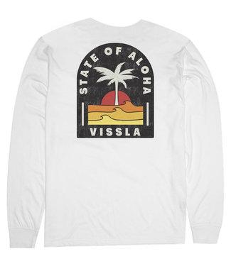 Vissla Toasty Coast LS Pocket Tee Vintage White