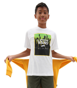 Vans Print Box Boys White/Slime T-Shirt