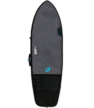 """Creatures Of Leisure 6'0"""" Fish Day Use Surf Boardbag Charcoal Cyan"""