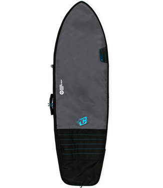 """Creatures Of Leisure 6'7"""" Fish Day Use Surf Boardbag Charcoal Cyan"""