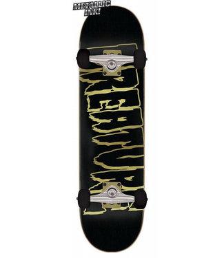 """Creature 8.25"""" Logo Outline Large Black Complete Skateboard"""