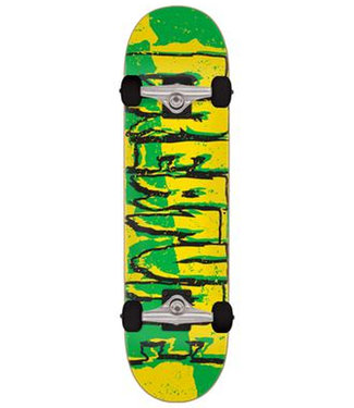 """Creature 7.5"""" Ripped Logo Micro Yellow Green Complete Skateboard"""