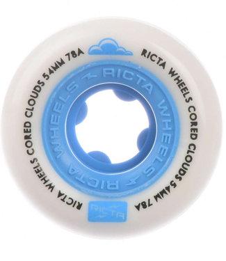 Ricta 54 mm 78A Cored Clouds All Terrain Skateboard Wheels Blue White