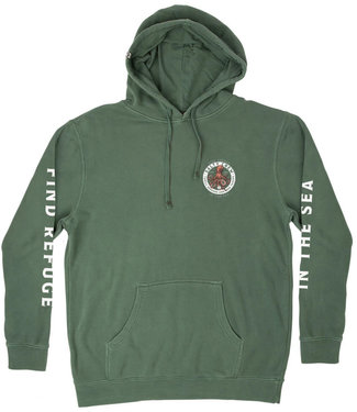 Salty Crew Deep Reach Overdyed Fleece Alpin Green