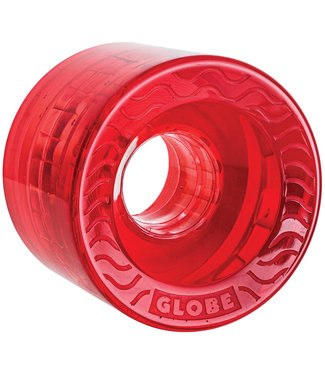 Globe Retro Flex 58mm 83A Clear/Red Cruiser Wheels