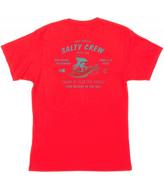 Salty Crew Foam n Flatty Premium S/S Red Tee