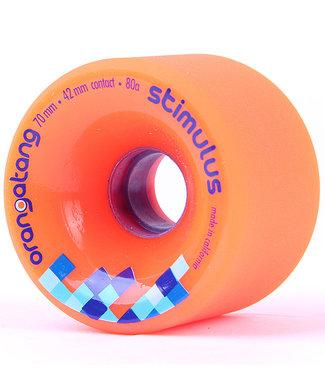 Orangatang Stimulus 70mm/80A Orange Longboard Wheels