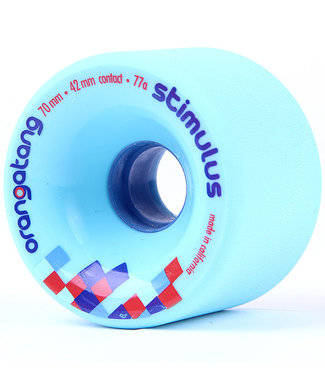 Orangatang Stimulus 70mm/77A Blue Longboard Wheels